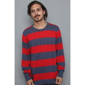 Lrg core collection the cc striped sweater in navy heather,sweaters for men