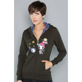 Tokidoki the date zip hoody hood ,sweatshirts for women