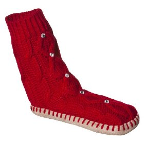 Girls' xhilaration® red slipper socks