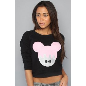 Sauce the drippy mickey pullover,tops (l/s) for women