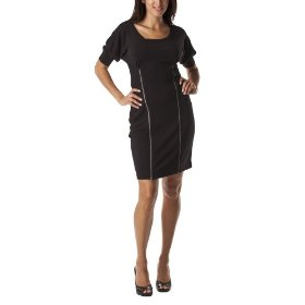 Mossimo® women's exposed zipper dress - black