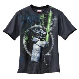 Boys' star wars: clone wars gray short-sleeve graphic tee