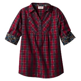 Girls' mossimo supply co. red 3/4-sleeve tunic top