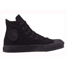 Converse chuck taylor all star hi top black monochrome canvas