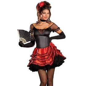 Sexy senorita spanish dancer adult halloween costume