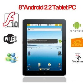 8 inch a8 pad cortex-a8 fs-805t google android 2.2 tablet pc a8 mid