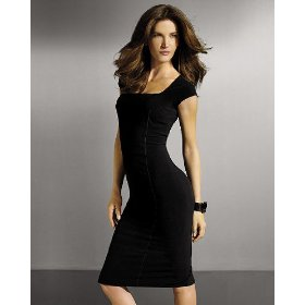 Shape fx sheath dress with power mesh control
