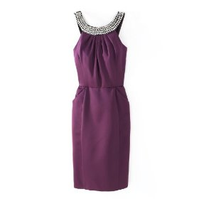 Spiegel pearl trim dress