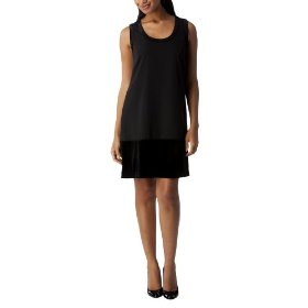 Mossimo® black: women's velvet trim dress - black