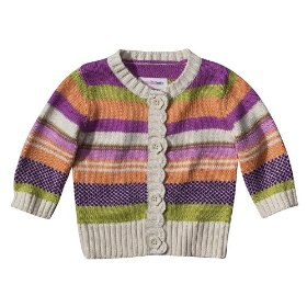 Newborn girls' genuine baby from oshkosh jewel tones strip sweater