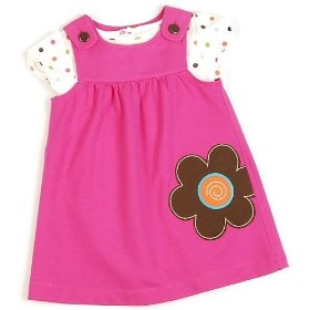 Carter's 2pc polka dot jumper set