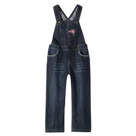 Infant toddler girls' genuine kids from oshkosh dark rinse overall
