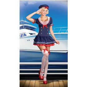 Womens plus size hello sailor - sexy sailor girl costume (no stkgs)