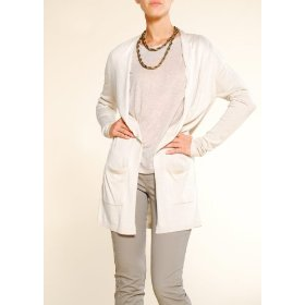 Mango women's long lapel cardigan