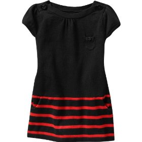 Gap striped boatneck sweater dress