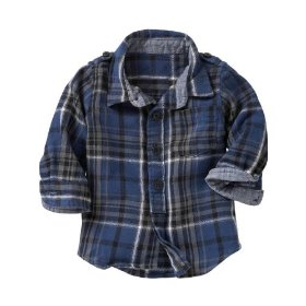 Gap blue plaid shirt