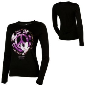 Element peace t-shirt - long-sleeve - women's