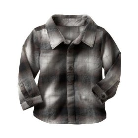 Gap faded plaid shirt