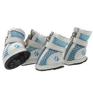 Summer Lightweight Blue Walking Shoes, Casual Doggy Boots, Size 2#, Dogs Costume