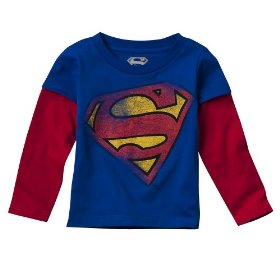 Infant toddler boys' abyss long-sleeve superman tee