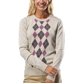 Merona® women's crewneck argyle sweater - oatmeal