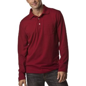 Merona® long-sleeve polo - garnet