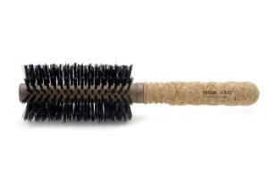 EX3 - Ibiza Medium Round Brush with Extended Cork Handle, 14 Rows of Bristles