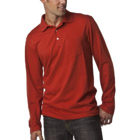 Merona® long-sleeve polo - roasted pepper