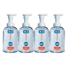 X3 clean hand sanitizer, 8.5-ounces bottles (pack of 4)