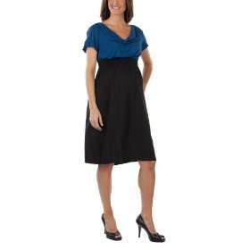 Liz lange® for target® maternity short-sleeve dress - black/blue