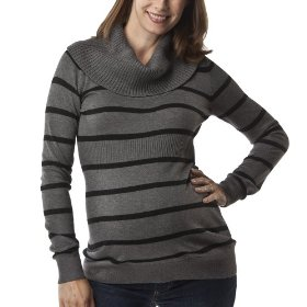 Liz lange® for target® maternity long-sleeve cowl-neck sweater - charcoal/ebony