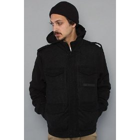 Nixon the eastwood jacket in black heather,jackets for men