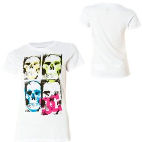 Dc skulled t-shirt - short-sleeve - women's