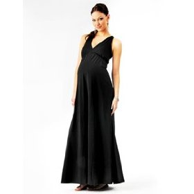 Motherhood maternity: loved by heidi klum sleeveless crochet detail maternity maxi dress