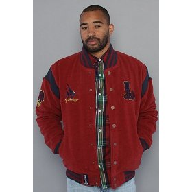 Lrg the heritage letterman jacket in maroon,jackets for men