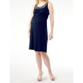 A pea in the pod: sleeveless beaded detail maternity dress
