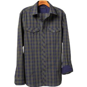 Banana republic ombre-plaid shirt