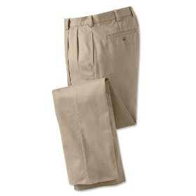 Wrinkle-free pure cotton chinos / plain