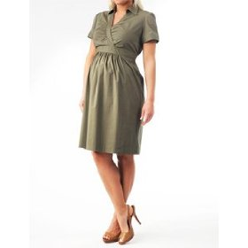 Motherhood maternity: short sleeve shirt dress maternity dress