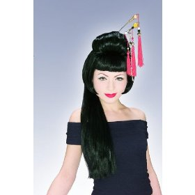 Sexy womens adult women's wigs geisha chinese girl china doll wig rubie's costume wig one si