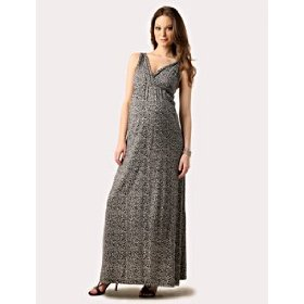 Motherhood maternity: loved by heidi klum sleeveless empire seam maternity maxi dress