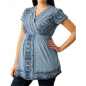 Motherhood maternity: short sleeve v-neck babydoll maternity shirt