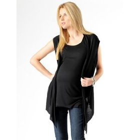 A pea in the pod: lavish by heidi klum layered maternity tank and vest