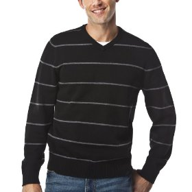 Merona® opp stripe sweater - black