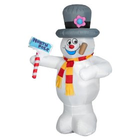 Frosty the snowman airblown outdoor decoration
