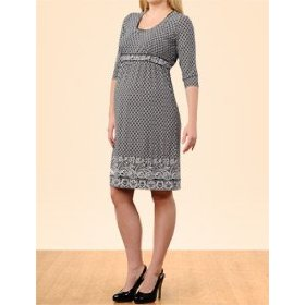 A pea in the pod: 3/4 sleeve empire waist maternity dress