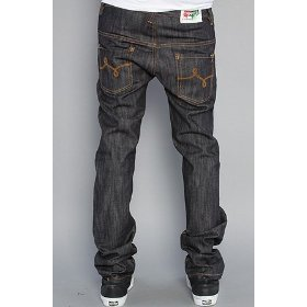 Lrg the supernova slim straight jeans in raw indigo,denim for men
