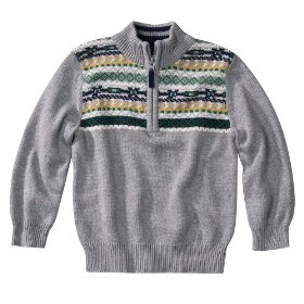 Infant toddler boys' cherokee® grey long-sleeve striped sweater