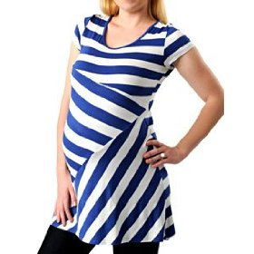 A pea in the pod: short sleeve scoop neck striped maternity top