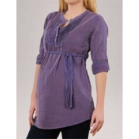 A pea in the pod collection: button front maternity tunic